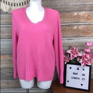 Barbie Pink Jeanne Pierre Stretchy Cable Sweater
